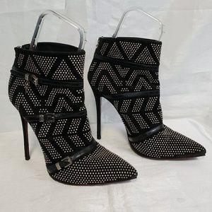 Cesare Paciotti Studded Ankle Heel Boots